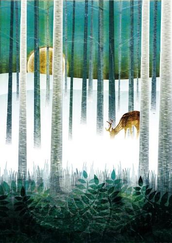 Vivid Illustrations Blend Nature with Ornamental Patterns