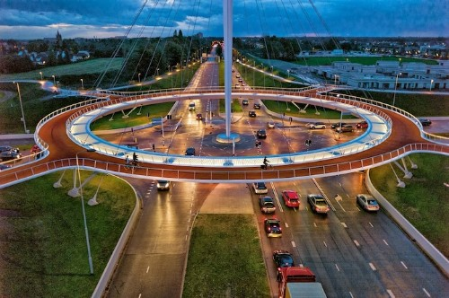 Giant Hovering Roundabout for Cyclists in the Netherlands