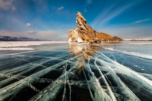 World's Oldest Lake Transforms into Icy Playground