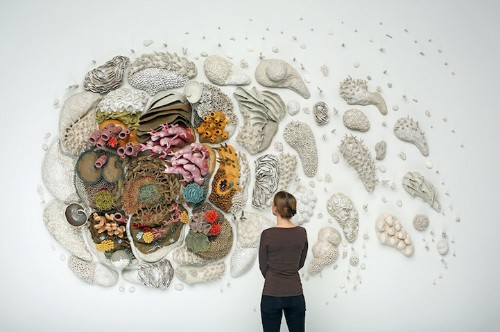 Large Coral Reef Sculpture Raises Conservation Awareness