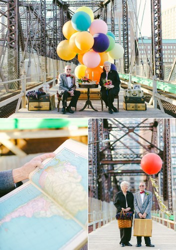 "Couple Married 61 Years Ago Takes ""Up"" Inspired Anniversary Photos"