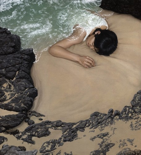 Surreal Paintings Cloak People in Landscapes
