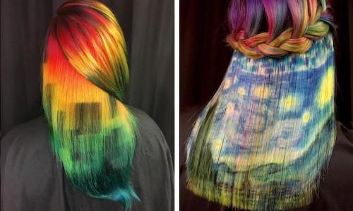 Stylist Showcases Amazing Artistic Skills Using Hair as a Canvas
