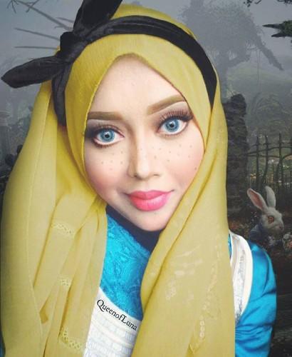 Makeup Artist Uses Hijab to Creatively Transform Herself into Disney Princesses