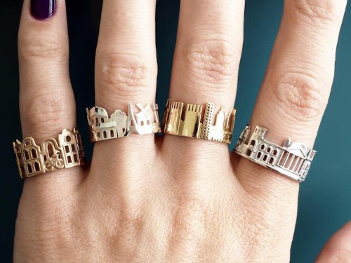Architecture Rings Celebrate the World's Iconic Skylines of Beloved Cityscapes