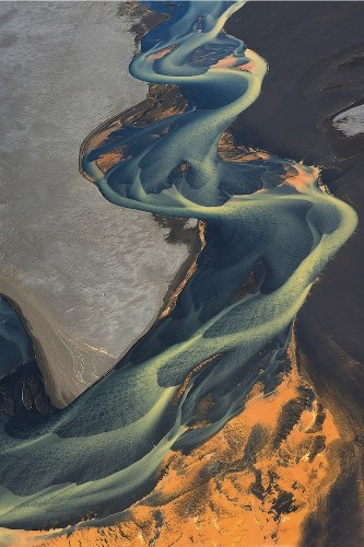 More Spectacular Aerial Shots of Iceland's Volcanic Rivers