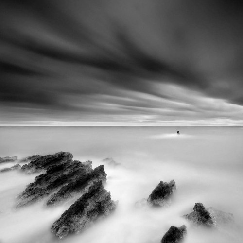 Minimalist Photographer Captures Dramatic Depth of Nature in Black and White