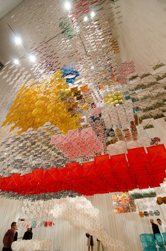 Massive Paper Installation Feels Like You're Walking Inside a 3D Painting