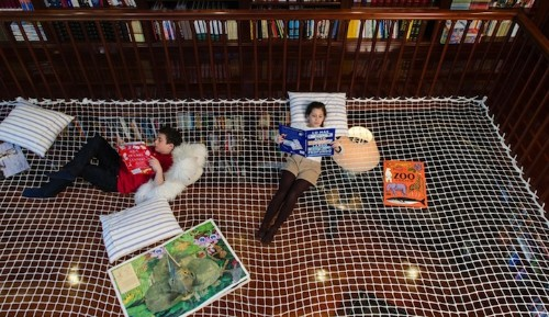 """""""Reading Net"""" Allows Kids to Learn While Floating in Mid-Air"""