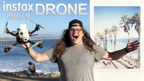 Guy Invents an Instax Drone Camera That Takes Instant Aerial Photos