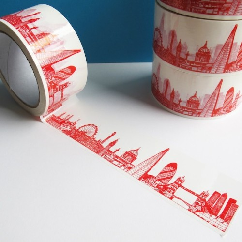 Creative Sticky Tape Featuring International City Skylines