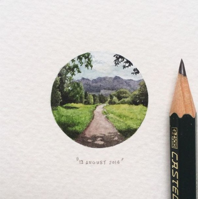 Artist Creates a Detailed Miniature Painting Every Single Day