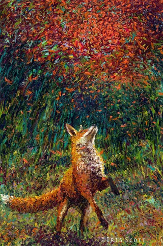 Artist Paints Elaborately Colorful Scenes Using Only Her Fingers
