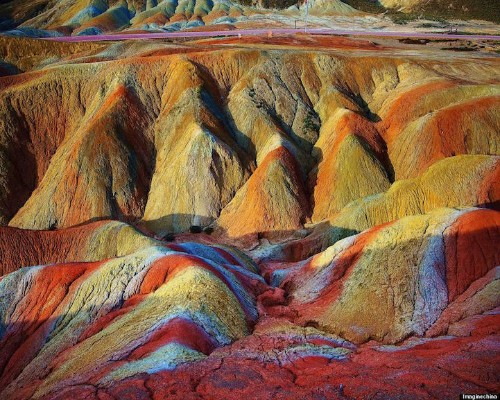 Vibrant Landscape Photos Showcase the Striking Colors of China's Rainbow Mountains