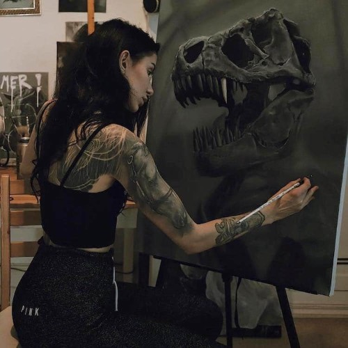 Artist Creates Poetic Oil Paintings to Pay Homage to Prehistoric Animals