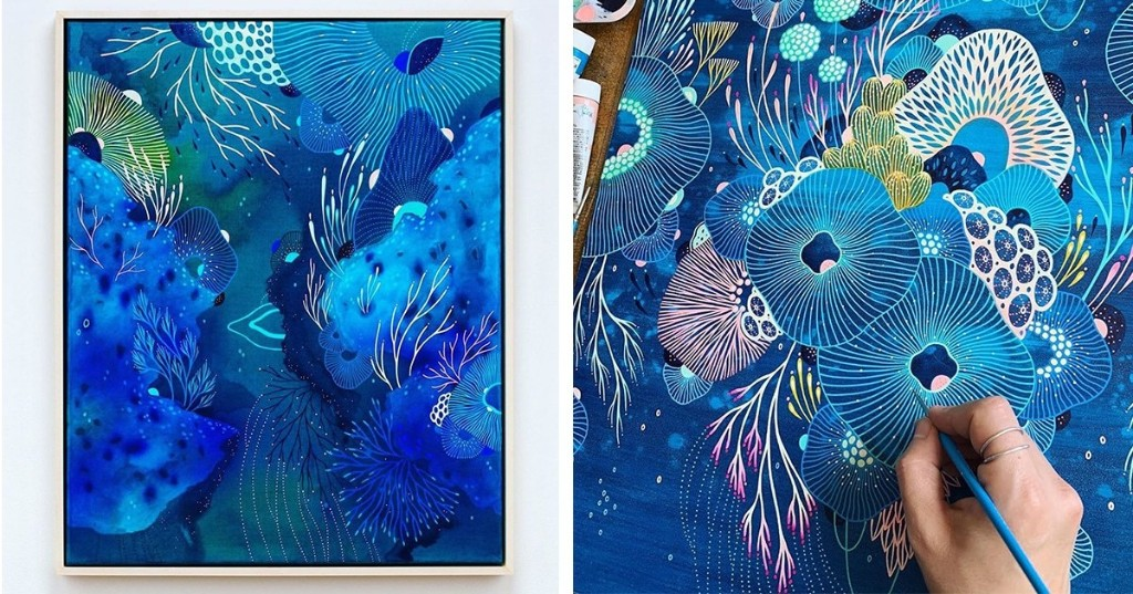 Imaginary Ecosystems Explore Using Prussian Blue as an Antidote Inside Their Abstract World