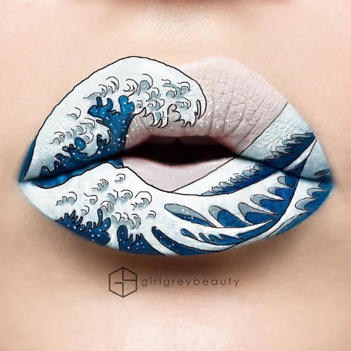 Makeup Artist Uses Her Lips as a Canvas for Elaborate Works of Art