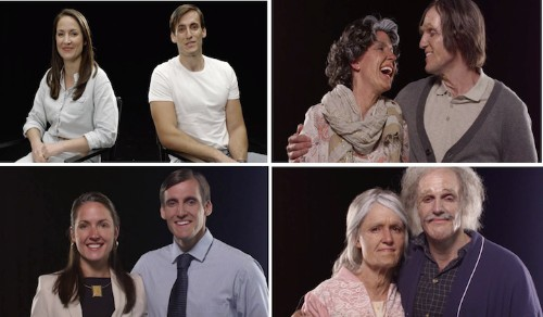 Engaged Couple Shed Tears of Joy When They See Old Versions of Themselves