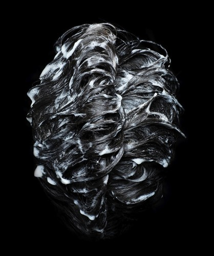 Shampooed Hair Presented as Abstract Art in Photo Series