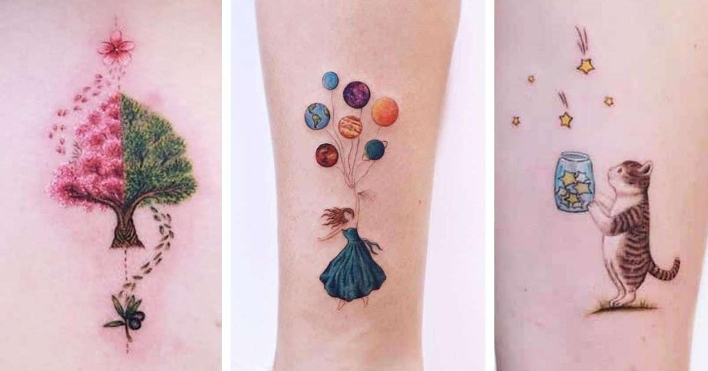 Whimsical Tattoos Look Like They're Straight Out of a Children's Storybook
