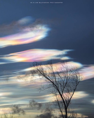 Fantastical Rainbow Clouds Dust the Skies at Sunset in the UK