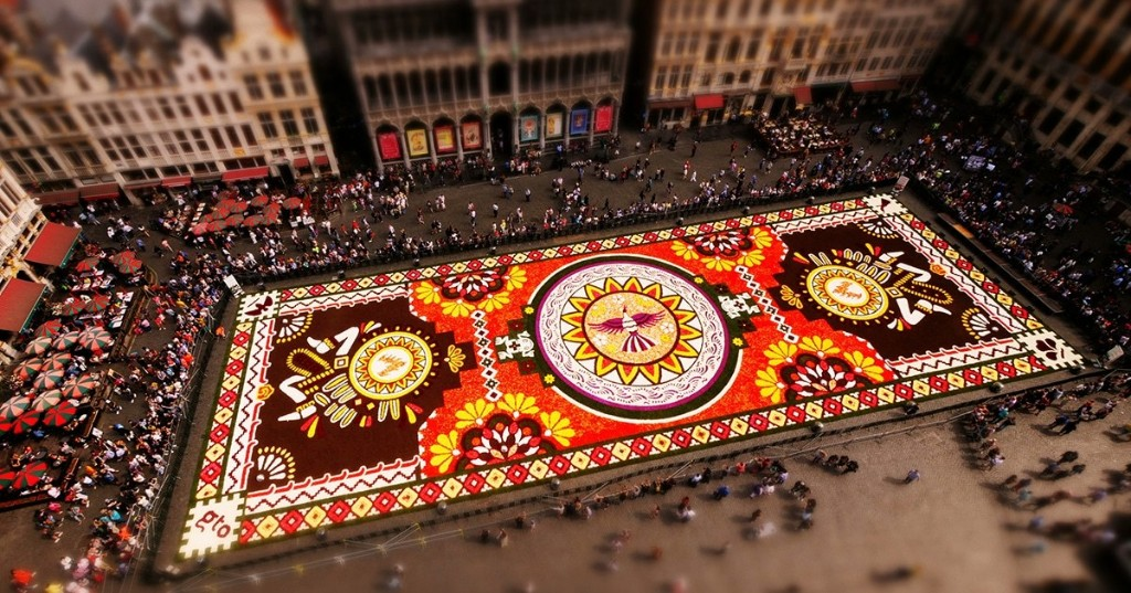 """Aerial Time-Lapse Video Captures Amazing Creation of """"Flower Carpet"""" Made of Millions of Begonias"""