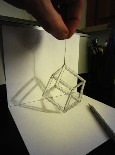 Mind-Boggling Anamorphic Drawings Leap Off the Page