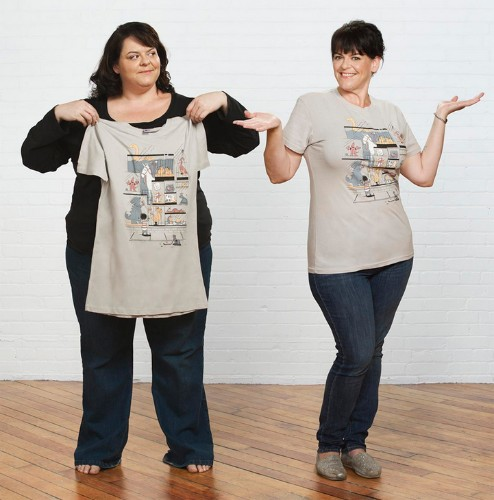 Woman Creates Funny Photo Series with a Clone of Herself After Losing 150-Pound in Two Years