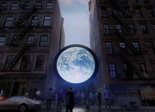 Artist Livestreams Images of Earth from Space in Mesmerizing Public Art Installation