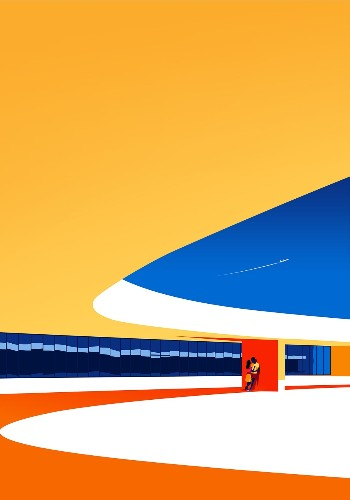Minimalist Illustrations Celebrate the Beauty of Oscar Niemeyer's Modern Architecture