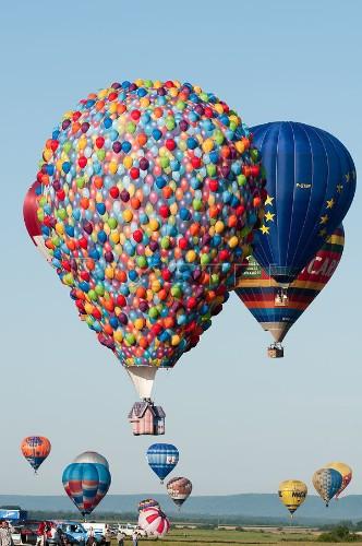 Disney's Creative Hot Air Balloon Recreates Up House