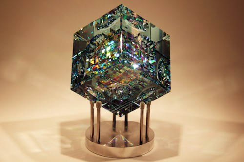 Rare Kaleidoscopic Glass Sculptures by Jack Storms