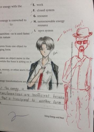 Teacher Vows to Complete Doodles on Student's Exams