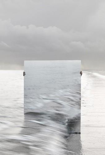 Artist Camouflages Self, Hides Behind a Mirror