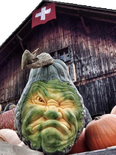 Incredible Blue Squash Carvings by Ray Villafane