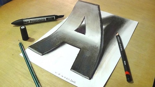 Incredible 3D Drawings Pop Off the Page and Sink Into the Ground