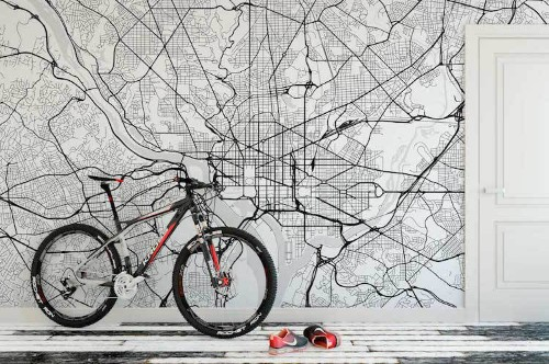 Style Your Home With Custom Map Wallpaper of Any City in the World