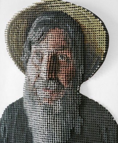 """3D Screw Portrait Allows Blind Man to """"See"""" Himself with His Hands"""
