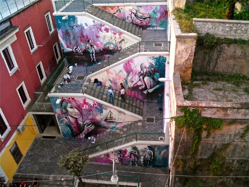 Colorful Mural in Italy Celebrates 20th Century Poet Alfonso Gatto
