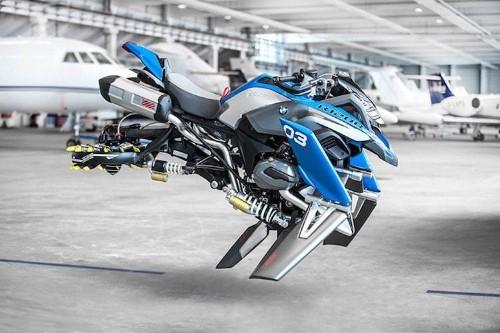 Students Turn a LEGO Model Into a Life-Size Futuristic Hover Bike