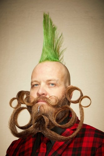 Most Creative Facial Hair at the 2019 Beard and Moustache Championships