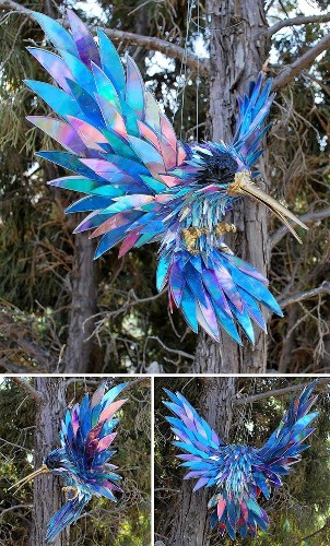 Artist Recycles Old CDs by Turning Them into Adorable Animal Sculptures