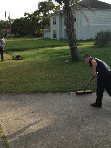 Compassionate Firefighters Finish Mowing Man's Lawn After He Suffers a Heart Attack