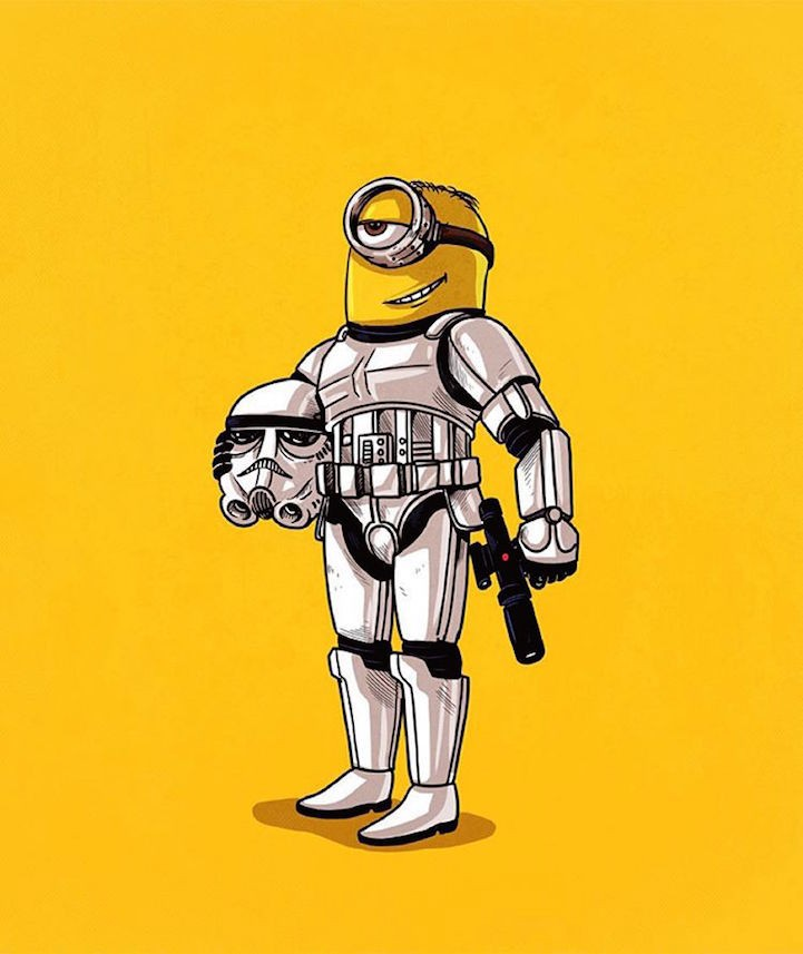 """Illustrator Amusingly """"Unmasks"""" the True Identities of Pop Culture Icons for New Book"""