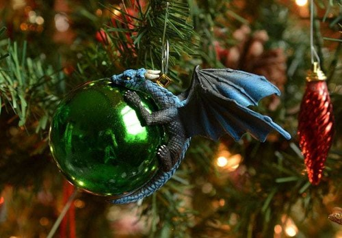 Sculptural Dragon Ornaments Protect Colorful Baubles Like Their Own Eggs
