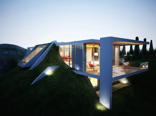 "Stunning ""Earth House"" Appears to Be Built into the Ground"