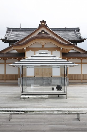 Transparent Glass Tea House Creating Rainbow Light is Unveiled in Kyoto, Japan