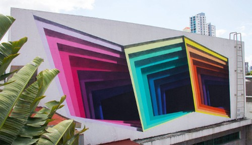 Street Artist Paints Three-Dimensional Portals on the Side of Buildings