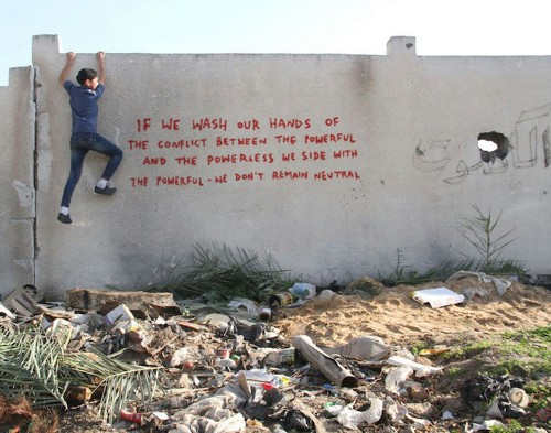 Banksy Goes Undercover in Gaza, Releases New Works and Eye-Opening Video