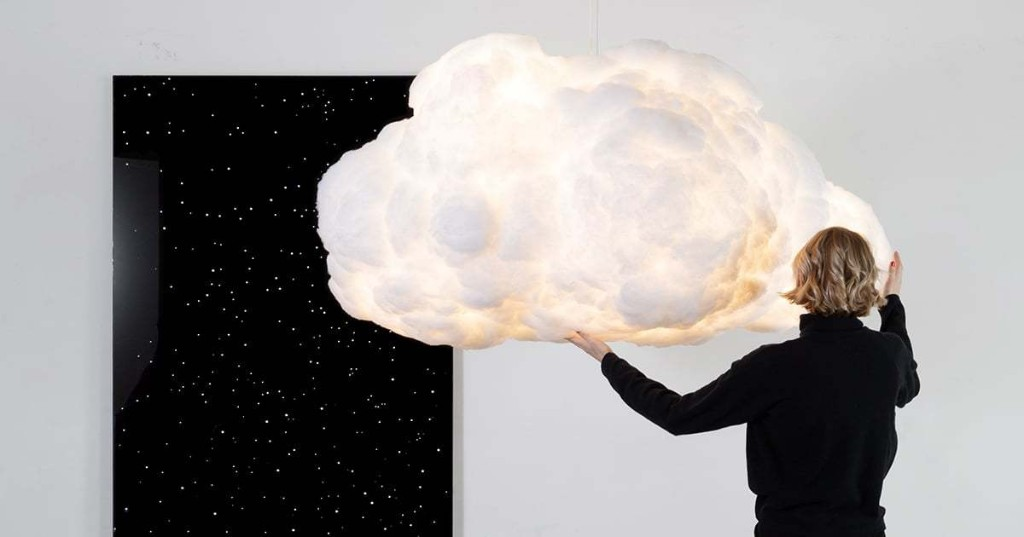 These Floating Color-Changing Cloud Lamps Can Sync to Your Music
